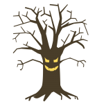 ハロウィン 木