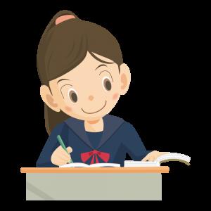 勉強 女の子
